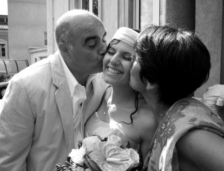 parents et mariée